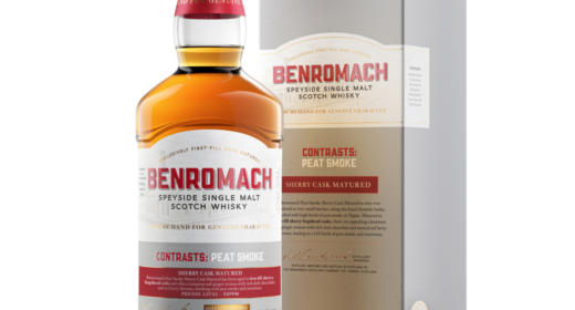 Benromach Contrasts: Peat Smoke Sherry Cask Matured Bottle and Box Image
